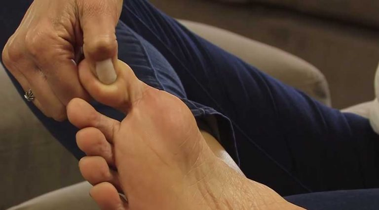 foot reflexology point to the brain